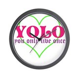 Cute yolo Wall Clock