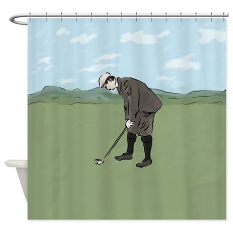 Vintage Style golf Highlands Golfing Scene Blanket by auslandgifts