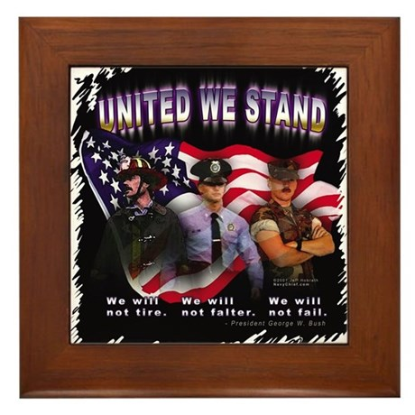 United We Stand Image Framed Tile