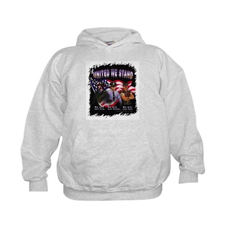 United We Stand Image Kids Hoodie