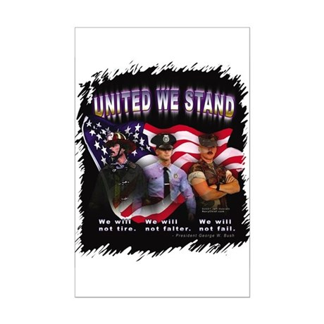 United We Stand Image Mini Poster Print