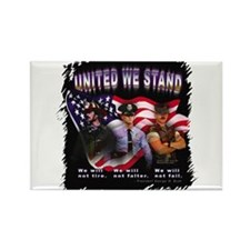 United We Stand Image Rectangle Magnet (100 pack)