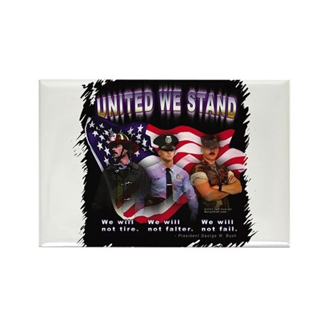 United We Stand Image Rectangle Magnet (10 pack)