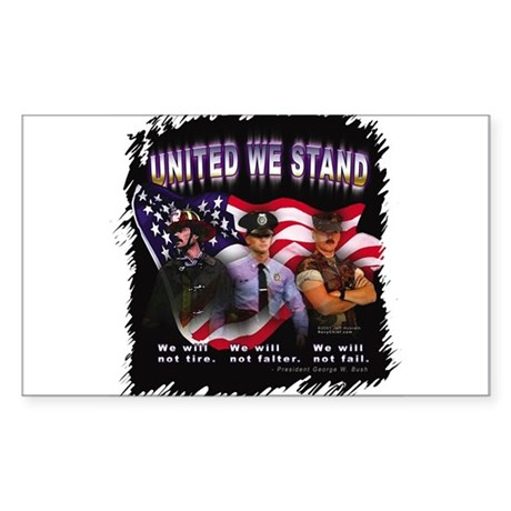 United We Stand Image Rectangle Sticker