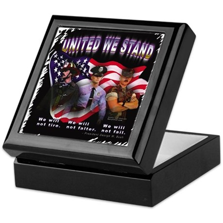 United We Stand Image Keepsake Box