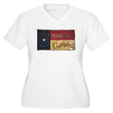 NC Flag Faded Plus Size T-Shirt