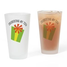 Celebrating My 70th Birthday Drinking Glass
