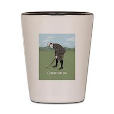 Personalized Vintage golf scene Shot Glass