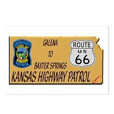 Kansas Highway Patrol Route 66 Postcards (Package