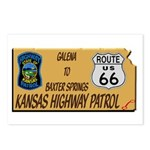Kansas Highway Patrol Route 66 Postcards (Package