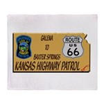 Kansas Highway Patrol Route 66 Throw Blanket