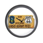 Kansas Highway Patrol Route 66 Wall Clock