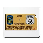 Kansas Highway Patrol Route 66 Mousepad