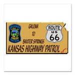 Kansas Highway Patrol Route 66 Square Car Magnet 3