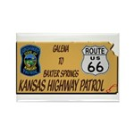 Kansas Highway Patrol Route 66 Rectangle Magnet