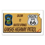 Kansas Highway Patrol Route 66 Sticker