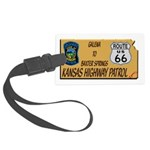 Kansas Highway Patrol Route 66 Luggage Tag