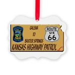 Kansas Highway Patrol Route 66 Ornament