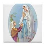Virgin Mary - Lourdes Tile Coaster