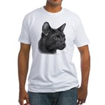 Havana Brown Cat Fitted T-Shirt