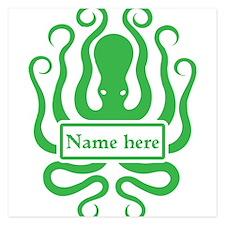 Custom Octopus Design Invitations