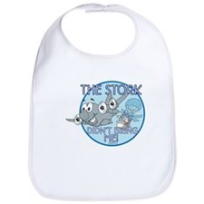 """ The Stork Didn't Bring Me"" Boys Bib"