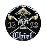 Navy Chief 1893 Ornament (Round)