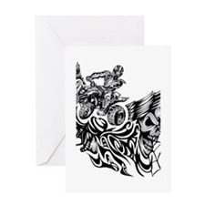Quad Blazed Wickedness Greeting Card