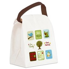 Cute Cute frogs think Canvas Lunch Bag