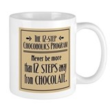 12 Steps Away from Chocolate Coffee Mug (white)
