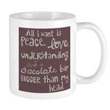 Bigger than My Head Chocolate Bar Mug (white)