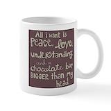 Chocolate Small Mugs (11 oz)