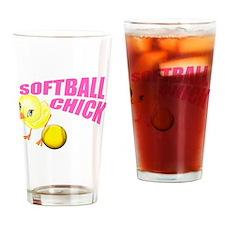 SoftballChick copy Drinking Glass