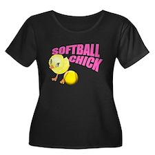 SoftballChick copy Plus Size T-Shirt