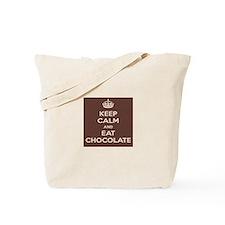 Keep Calm and Eat ChocolateTote Bag