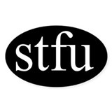 stfu oval sticker