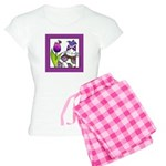PURPLE GARDEN CAT... Women's Light Pajamas