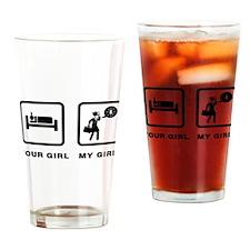 Businesswoman Drinking Glass