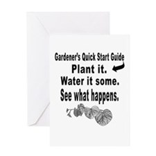 Gardening quick start guide Greeting Card
