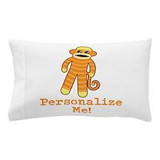 Orange Sock Monkey Pillow Case