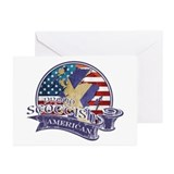 Proud Scottish American Greeting Cards (Pk of 10)