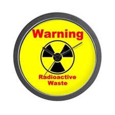 Radioactive Waste Wall Clock