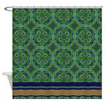 Peacock Kaleidoscope Pattern Shower Curtain