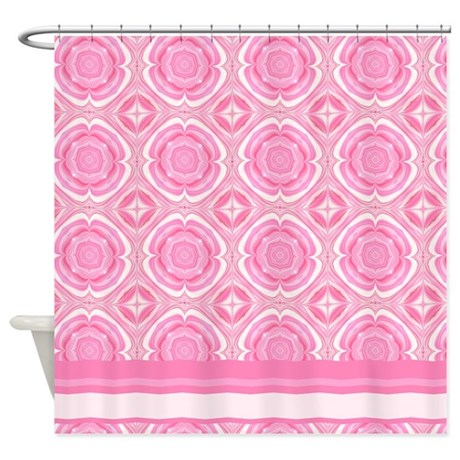 Pink Decor Shower Curtain