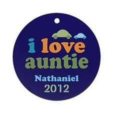 I Love Auntie Ornament (Round)