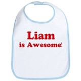 Liam is Awesome Bib