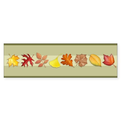 Leaves Bumper Sticker