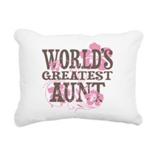 Greatest Aunt Rectangular Canvas Pillow