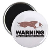 Red Merle BC Speed Logo Magnet