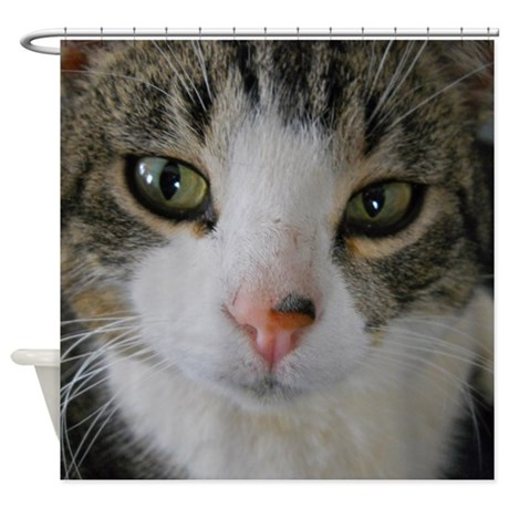 I See You Cat Shower Curtain | Photography and Art By Kent Lorentzen